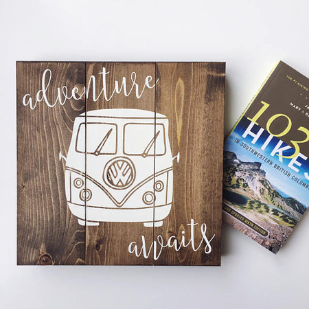 Adventure Awaits - Handmade VW Van Sign - The Makers