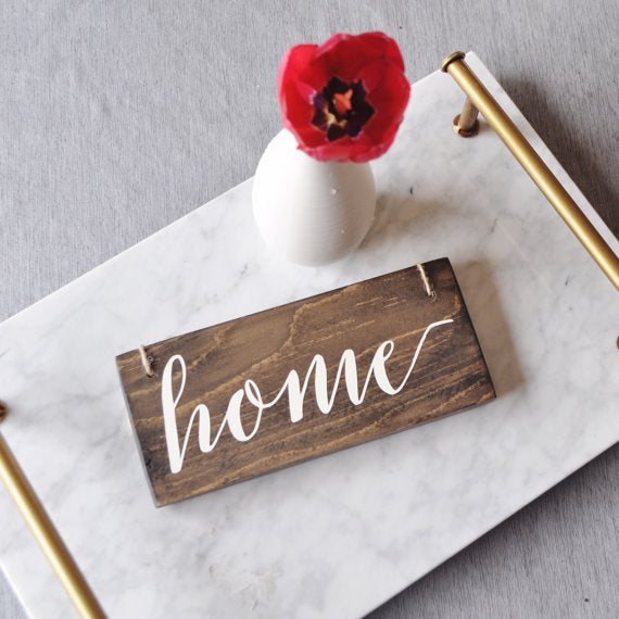 Home Hanging Sign - Handmade Wooden Sign - ShopTheMakers.com