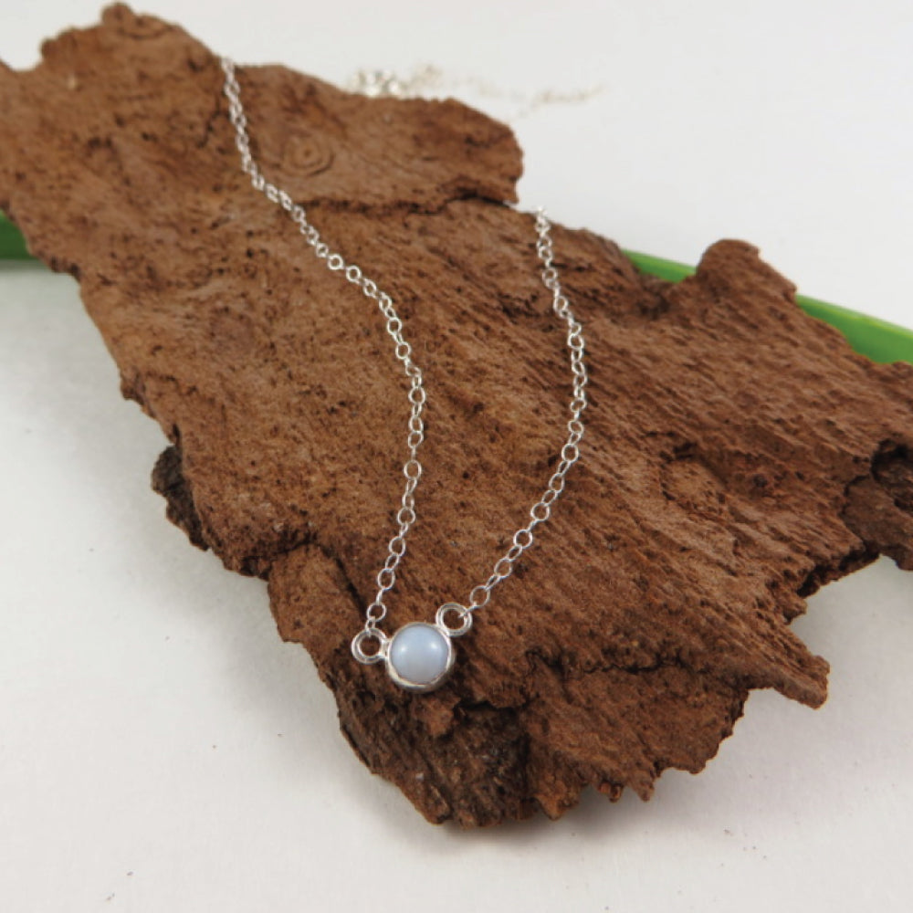 Gemstone Solitaire Silver Necklace - ShopTheMakers.com