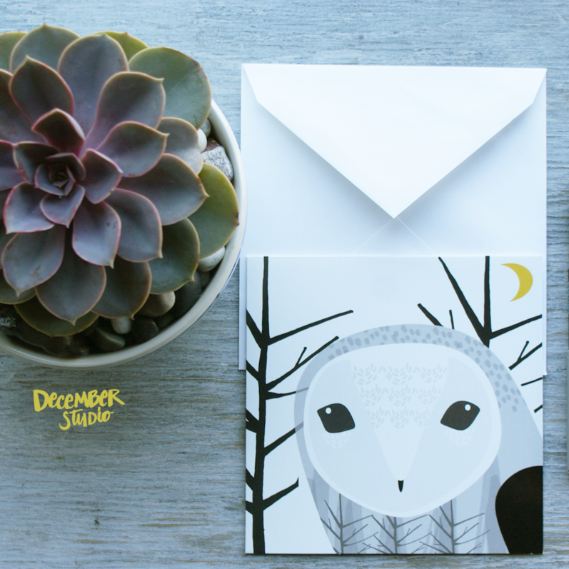 AUTUMN OWL CARD - ShopTheMakers.com