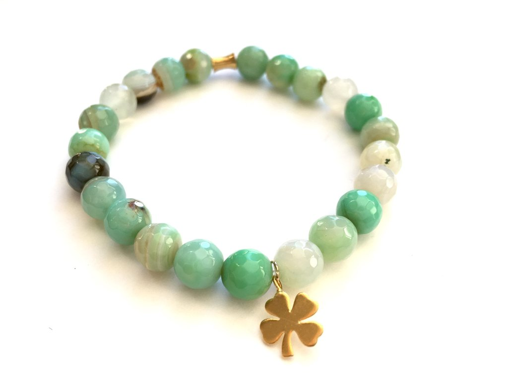 Chrysoprase - Gemstone Bracelet - ShopTheMakers.com