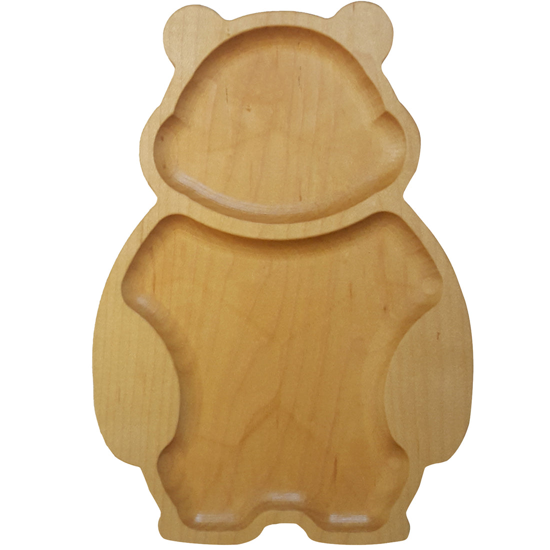 Natural Wooden Bear Plate for Children - The Makers