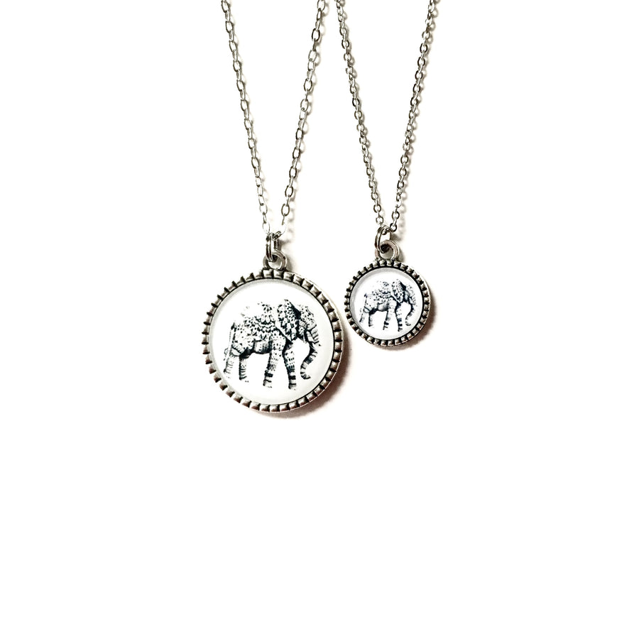 https://shopthemakers.com/products/matching-mother-daughter-necklace-set-elephants