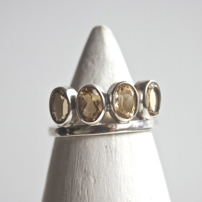 Citrine Crown Ring - Silver - ShopTheMakers.com