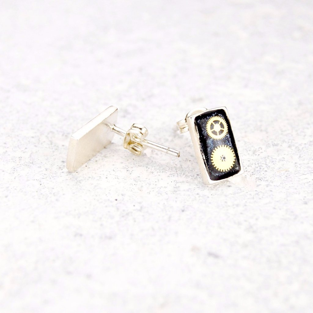 Box Stud Earrings - ShopTheMakers.com