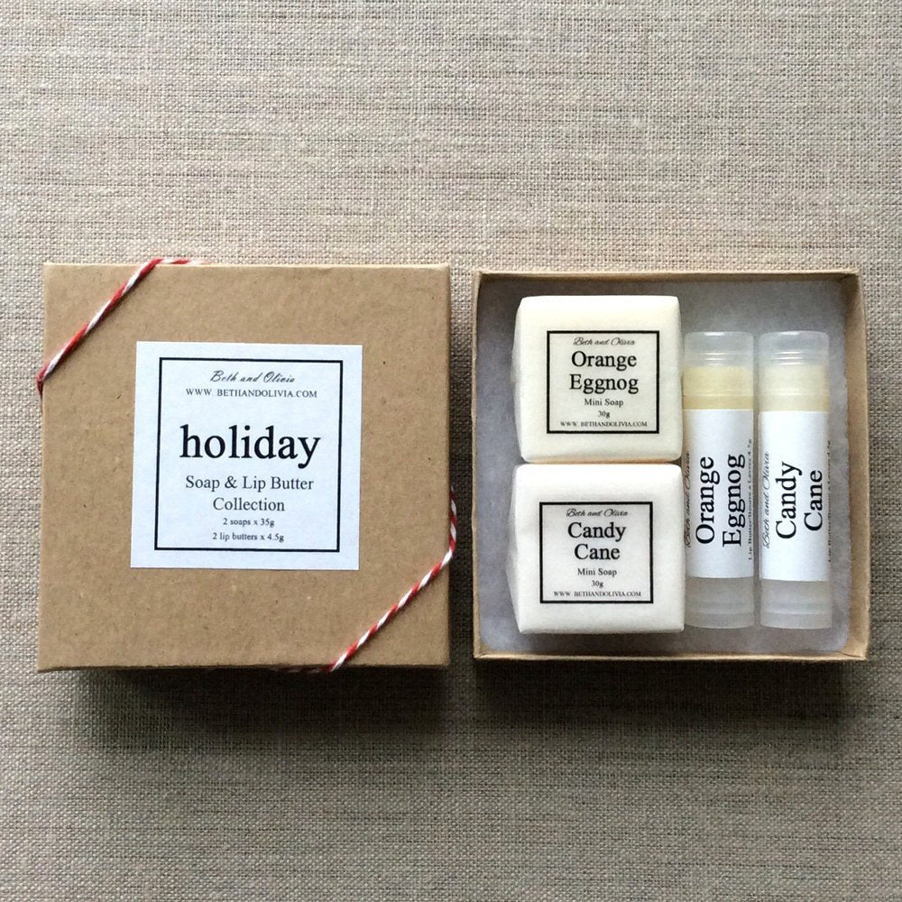 HOLIDAY SOAP AND LIP BUTTER GIFT SET - ShopTheMakers.com