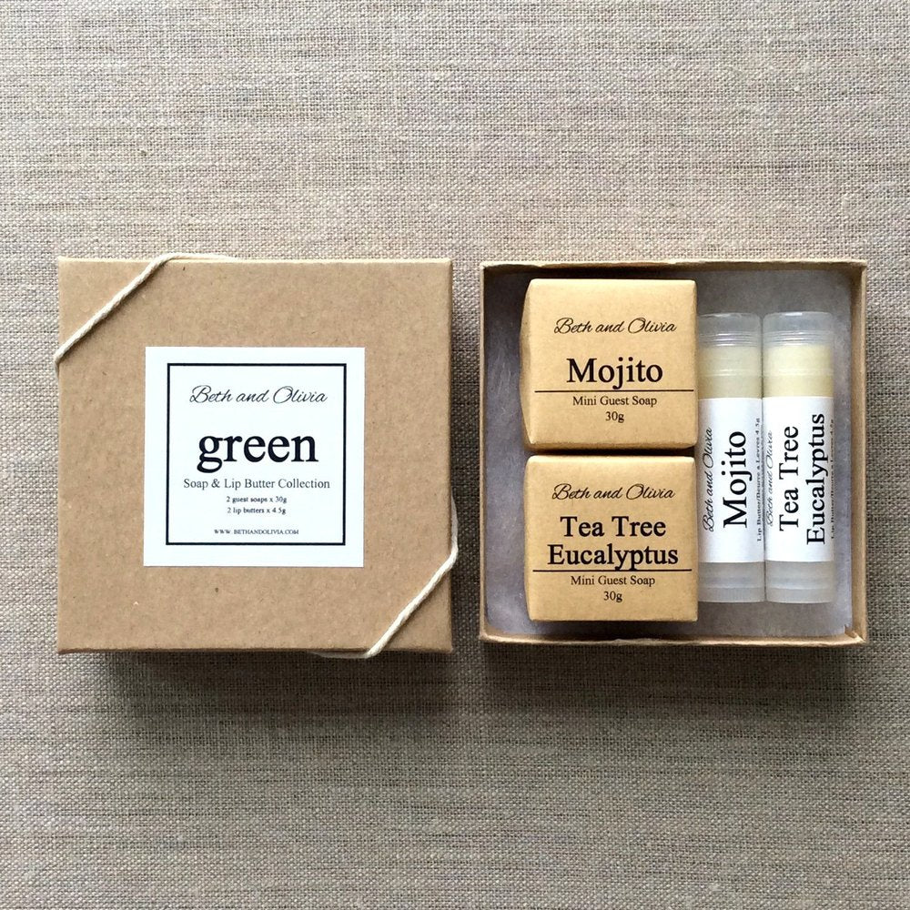 GREEN SOAP AND LIP BUTTER GIFT SET - ShopTheMakers.com