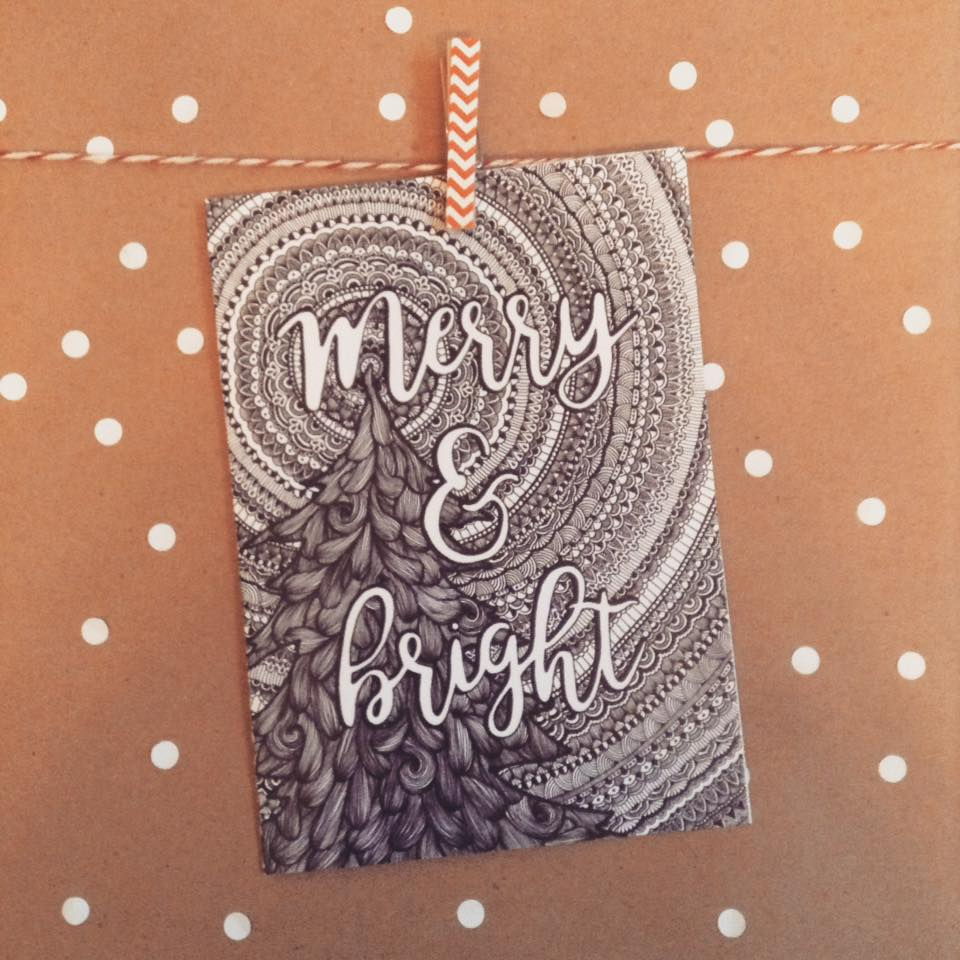 Merry and Bright Greeting Card - The Makers