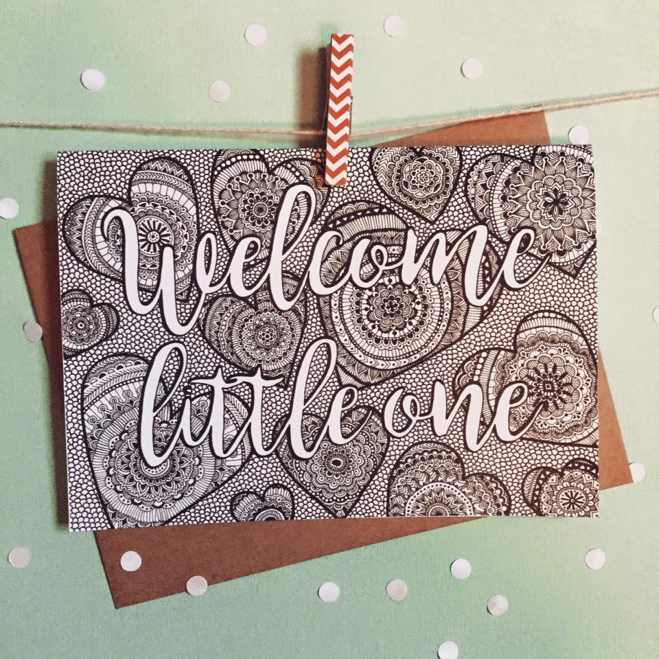 Welcome Little One Greeting Card - The Makers