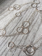 Long continuous sterling silver chain - ShopTheMakers.com
