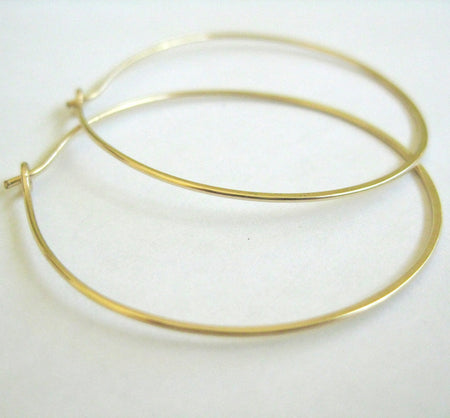 14k gold filled hoop earrings - ShopTheMakers.com