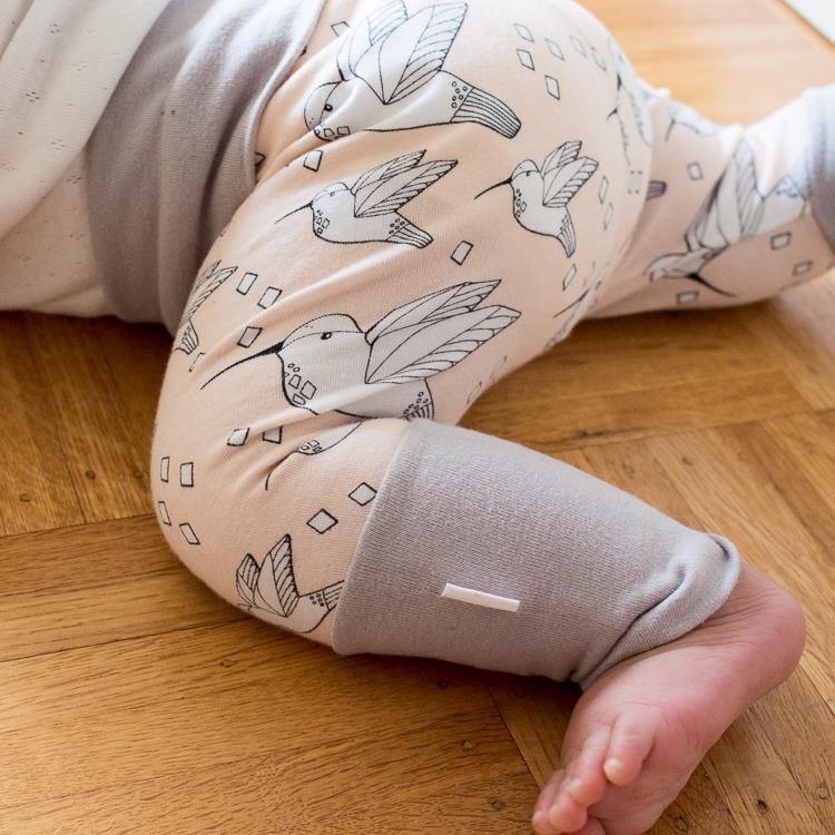 Grow-With-Me Harem Pants 'Hummingbird' Handmade with Super Soft, High Quality Organic Cotton - ShopTheMakers.com