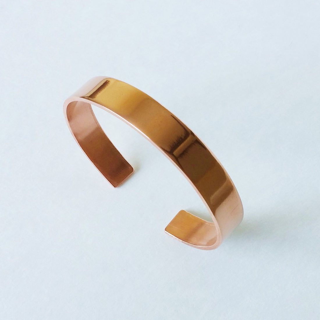 High Polished Copper Cuff - ShopTheMakers.com