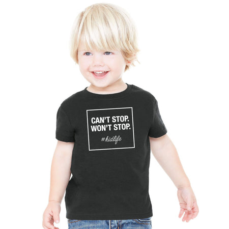 Can't Stop Won't Stop Jersey Cotton T Boys - ShopTheMakers.com