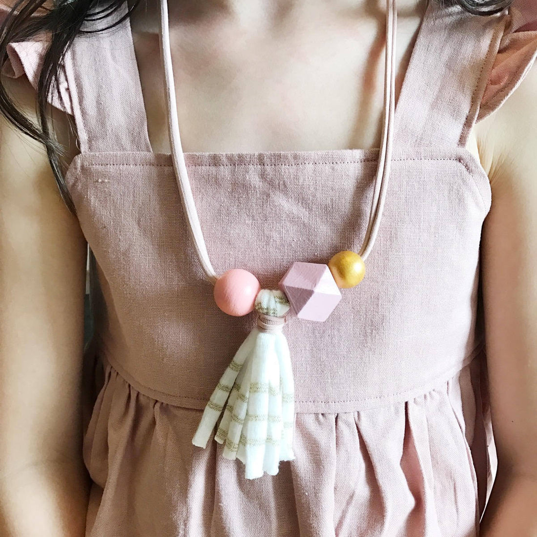 Cloud Tassel Emma Petite Girls Necklace - ShopTheMakers.com