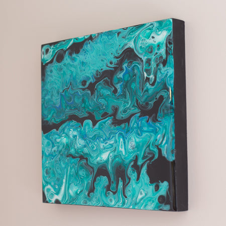 Abstract Acrylic Painting with Resin Finish - ShopTheMakers.com