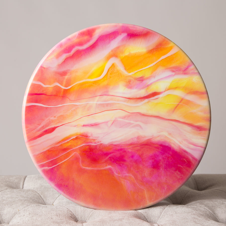 14 inch round resin wall art - ShopTheMakers.com