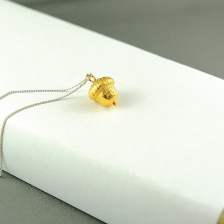 Acorn - Pendant (24 kt gold or sterling silver) - ShopTheMakers.com