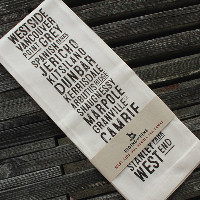 West Side Bus Scroll Tea Towel - The Makers