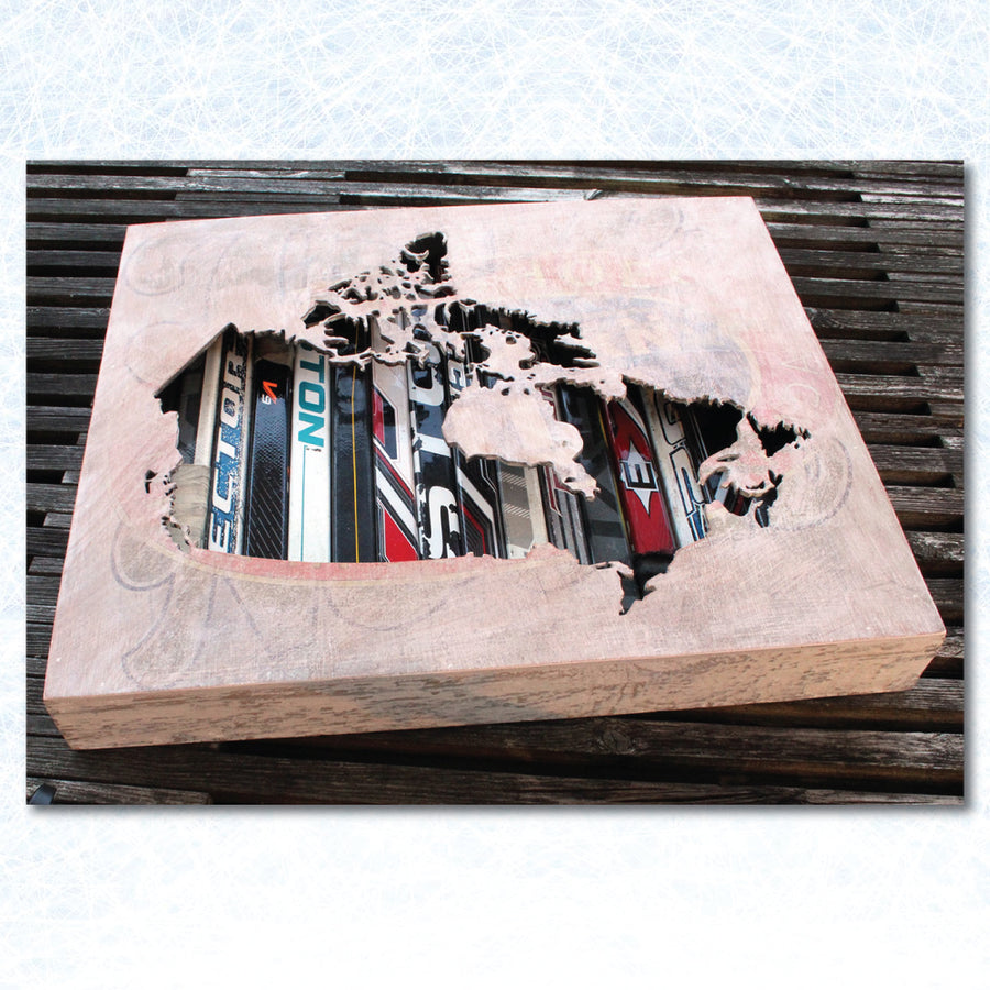 "12"" Canada Map Shadow Box - ShopTheMakers.com"