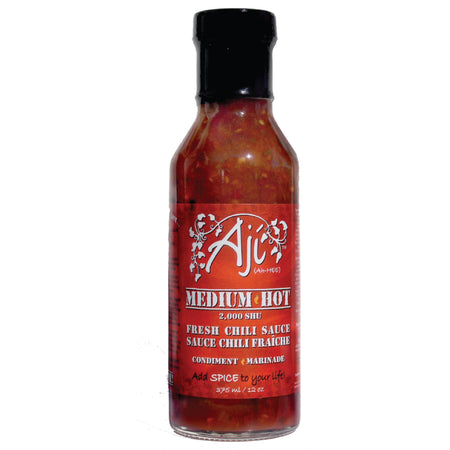 Aji Medium Hot SAUCE Spicy chunky chili Medium Hot - ShopTheMakers.com
