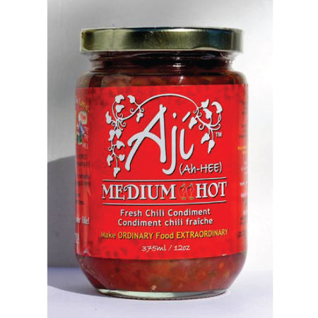 Aji Medium Hot Condiment, has a good level of spice, - ShopTheMakers.com