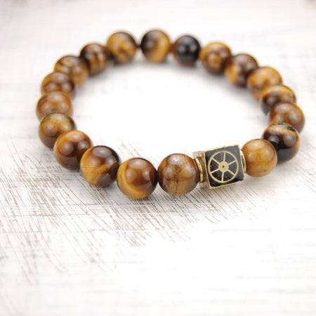 Tigers Eye Bead Bracelet - The Makers