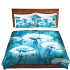 Jellyfish Watercolor Painting Duvet Set - ShopTheMakers.com