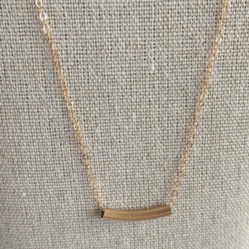Gold filled tube necklace - ShopTheMakers.com