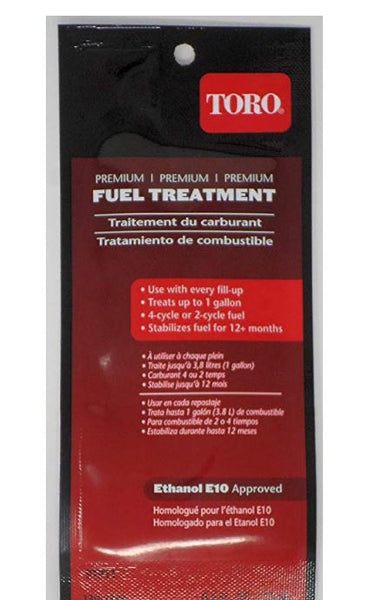Toro 130-2393 Premium Fuel Treatment .5oz (Treats up to 1 Gallon)