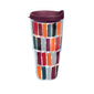 Fiesta® Dashes Harvest 24 oz Tumbler with Maroon Lid
