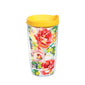 Fiesta® Floral Bouquet 16 oz Tumbler with Yellow Lid, Tervis Tumbler - Fiesta Factory Direct by Homer Laughlin China.  Dinnerware proudly made in the USA.