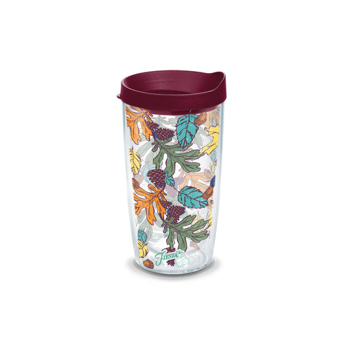 Fiesta® Butterscotch Fall 16 oz Tumbler with Lid