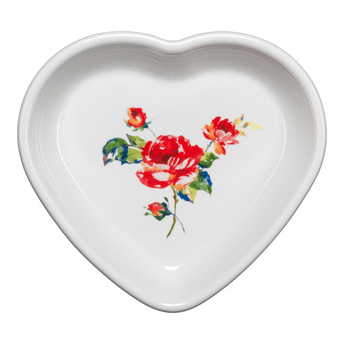 Medium Heart Bowl Floral Bouquet, fiesta® Floral Bouquet - Fiesta Factory Direct by Homer Laughlin China.  Dinnerware proudly made in the USA.