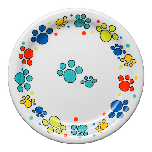 Scatter Print Cat Paws Appetizer Plate, fiesta® Pet Ware - Fiesta Factory Direct by Homer Laughlin China.  Dinnerware proudly made in the USA.