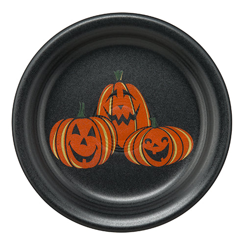 Trio of Happy Pumpkins Appetizer Plate