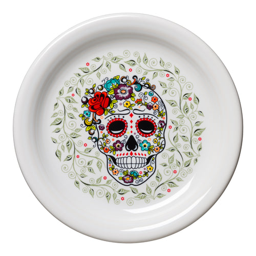 Appetizer Plate SKULL AND VINE Sugar, fiesta® SKULL AND VINE - Fiesta Factory Direct by Homer Laughlin China.  Dinnerware proudly made in the USA.