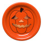 Spooky Glowing Pumpkin Appetizer Plate, fiesta® halloween - Fiesta Factory Direct by Homer Laughlin China.  Dinnerware proudly made in the USA.