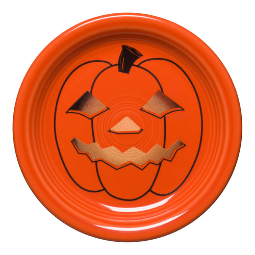 Spooky Glowing Pumpkin Appetizer Plate