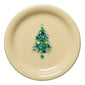 Blue Christmas Tree Appetizer Plate