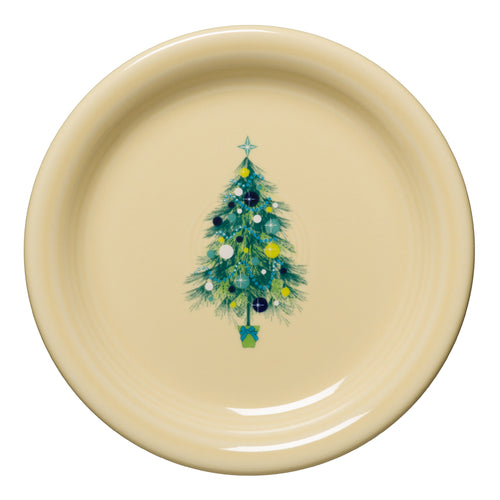 Blue Christmas Tree Appetizer Plate, fiesta® Blue Christmas tree - Fiesta Factory Direct by Homer Laughlin China.  Dinnerware proudly made in the USA.