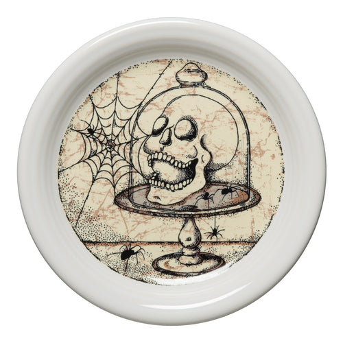Mystical Halloween Skull Appetizer Plate, fiesta® Mystical Halloween - Fiesta Factory Direct by Homer Laughlin China.  Dinnerware proudly made in the USA.