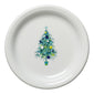 Blue Christmas Tree on White Appetizer Plate