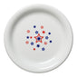 Americana Stars w/ Center Decal Appetizer Plate, fiesta® Americana Stars - Fiesta Factory Direct by Homer Laughlin China.  Dinnerware proudly made in the USA.