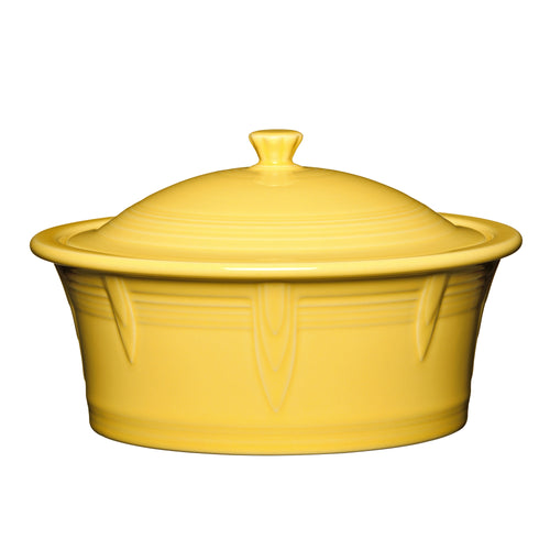 Large Covered Casserole - Fiesta Factory Direct