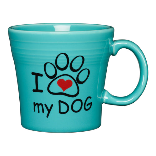I Love My Dog Tapered Mug, fiesta® Pet Ware - Fiesta Factory Direct by Homer Laughlin China.  Dinnerware proudly made in the USA.