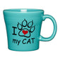 I Love My Cat Tapered Mug, fiesta® Pet Ware - Fiesta Factory Direct by Homer Laughlin China.  Dinnerware proudly made in the USA.