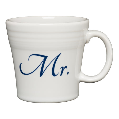 Tapered Mug Mr, fiesta® Bridal - Fiesta Factory Direct by Homer Laughlin China.  Dinnerware proudly made in the USA.
