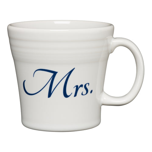 Tapered Mug Mrs, fiesta® Bridal - Fiesta Factory Direct by Homer Laughlin China.  Dinnerware proudly made in the USA.
