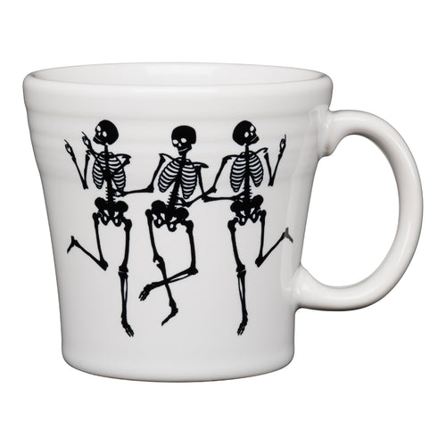 Trio of Skeletons Tapered Mug, fiesta® halloween - Fiesta Factory Direct by Homer Laughlin China.  Dinnerware proudly made in the USA.
